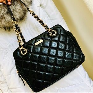 ♠️KATE SPADE⚡️Black Leather Quilted Shoulder Bag